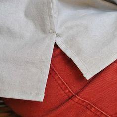 Handmade by Carolyn: Lapped flat-felled split side seam