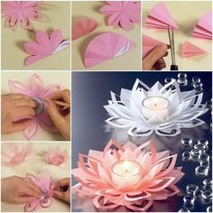 diy Beautiful Lotus Candlestick #diy #craft