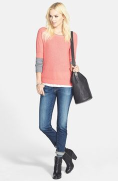 Hinge® Pullover & AG Jeans Cigarette Leg Jeans  available at #Nordstrom