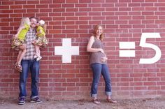 cute idea for baby announcement
