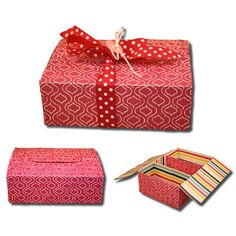 Bits of Paper: Three Section Gift Box// This might be what I use for Christmas goodies!!