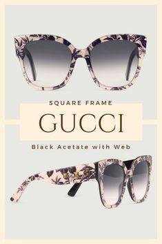 f5878b07722 Gucci Square-frame acetate sunglasses with Web