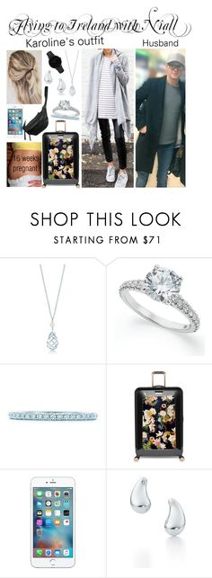 """Flying to Ireland with Niall"" by karolinebhn ❤ liked on Polyvore featuring Tiffany & Co., Ted Baker, Elsa Peretti, CLUSE and Yvonne Koné"