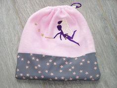 Pochon enfant polaire et tissu fée pailletée, personnalisable  : Autres sacs par tout-perso