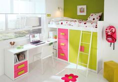 Childs Platform Bed with Wardrobe, Drawers and Optional Desk - Make the most of the available space with a platform bed and as much storage as you could need