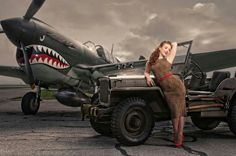 Awesome plane and jeep. Girl could not be in it