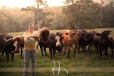 Engagement pics with cows