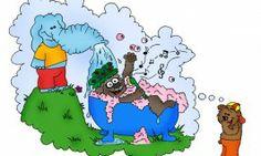 Wie Elefanten für ein ausgiebiges Rüsselbad von Opa Bär sorgen und noch viel mehr erfahrt ihr in Puschki & family's Kinderbuch!