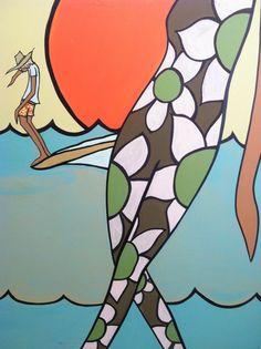 Andy Davis e a Arte que Expressa a Cultura do Surf Art And Illustration, Soul Surfer, Surf Decor, Surfboard Art, Tropical Art, Surf Art, Surf Style, Ocean Art, Beach Art