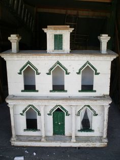 "US $1,200.00 ""American Antique Folk Art Doll House 19th Century Cabinet Primitive"""