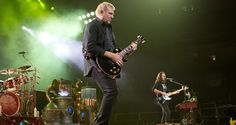 Alex Lifeson with one of his Gibson Les Paul guitars