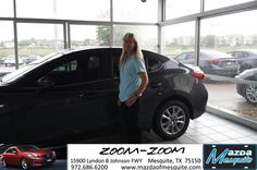 #HappyAnniversary to Cindy Traub on your 2014 #Mazda #Mazda3 from Teresa Mayon at Mazda of Mesquite!
