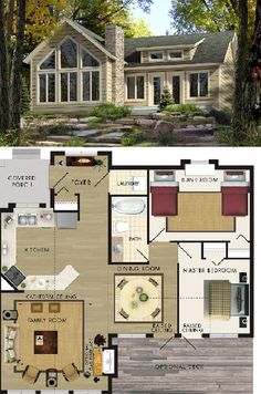 Beaver Homes & Cottages Aspen I :: 963 sq. ft.