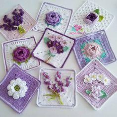 Crochet cushion cover, handmade cover in cotton and natura Crochet Cushion Cover, Crochet Cushions, Crochet Quilt, Crochet Motif, Crochet Flower Squares, Flower Granny Square, Crochet Flowers, Granny Squares, Crochet Potholder Patterns