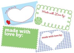 Printable Gift Tags for Your Handmade Gifts | Petals to PicotsPetals to Picots