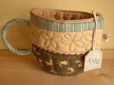 como fazer porta saquinho de chá em formato de caneca e de patchwork - Pesquisa Google