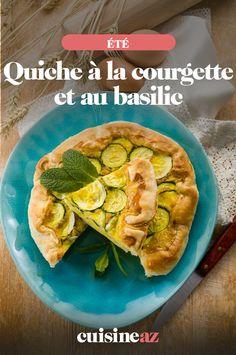 Cette quiche à la courgette et au basilic est une recette idéale à déguster sur la route des vacances. #recette#cuisine#quiche#patisserie #courgette #basilic #ete