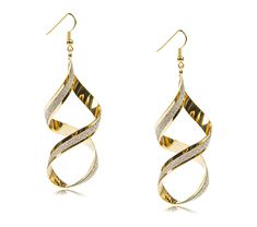 Hot Sale Exaggerated Size Twisted Frosted Alloy Drop Earrings How To Clean Metal, Drop Earrings, Hot, Jewelry, Jewlery, Jewerly, Schmuck, Drop Earring, Jewels