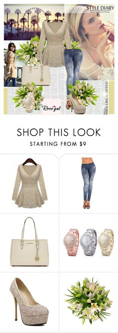 """""""Rosegal 57"""" by followme734 ❤ liked on Polyvore featuring Alba Botanica, MICHAEL Michael Kors and rosegal"""