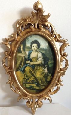 VINTAGE ORNATE ROCOCO ITALIAN RENAISSANCE BAROQUE STYLE GOLD FRAMED WALL PICTURE | eBay