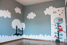 beautiful painted baby room by #lechatencarton