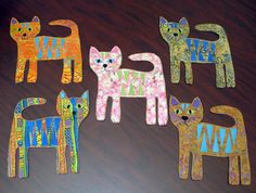 Fabric flat kitty dolls!  This would be sooo easy to make!