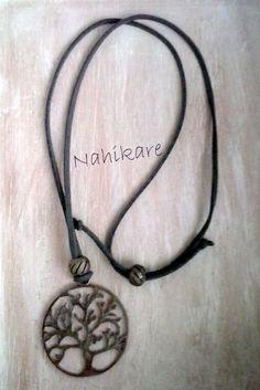 Árbol de la vida en acero - Collar Ante regulable + Pandoras brillos de Nahikare en Etsy