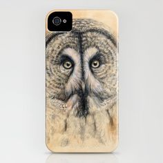 Great Grey Owl iPhone Case by S-Schukina - $35.00