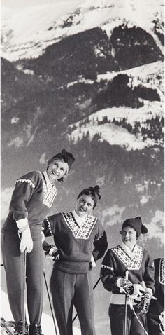 Alpine sweaters & stretch ski pants.