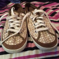 Coach Sneakers Coach sneakers. In great condition, only worn a few times but look new! Size 8. Purchased at coach. Coach Shoes Sneakers
