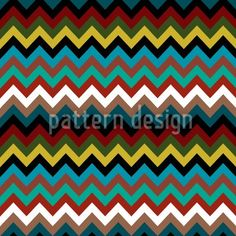 Colorful Zig-Zag stripes, designed by Natalie Singh, available on patterndesigns.com