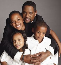 Blair Underwood and his children