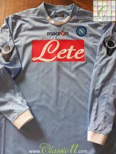 Relive Napoli s 2010 2011 season with this original Macron home football  shirt. Football Jerseys 452338dec