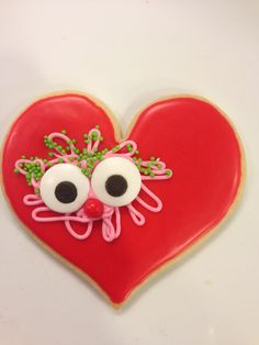 Frosted Valentine Cookies - the year of the face