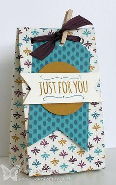 Stampin'Up! Erna Logtenberg (Love To Stamp): Stampin'Up! new gift bag punch board - Bohemian Designer Series Paper.