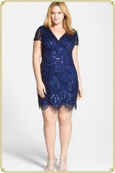 f4dcb19ce5c Plus Size Cocktail Dress - Plus Size Party Dress - Marina Beaded Empire  Waist Dress (Plus Size)