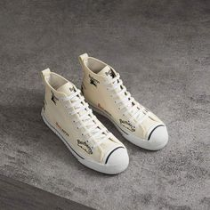 best loved a1eb1 b9909 Burberry Archive Logo Cotton High-top Sneakers