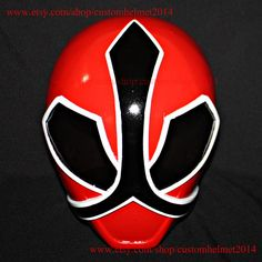 1:1 Scale Halloween Costume, Samurai Sentai Shinkenger Helmet Costume Mask, Power Ranger Cosplay Red Shinkenger PR11