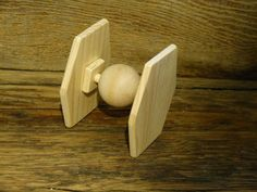 Star Wars inspired Tie Fighter Spaceship Handmade Wooden Toys Space Ship Space Craft on Etsy, $8.00