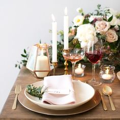 love the place setting and terranium. not crazy about the candles/flowers here!