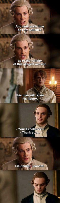 Don't mess with my man. He's mine! Outlander S03E13 - John vs Leonard.