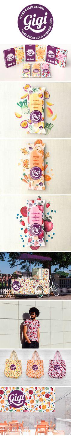 Straight Forward Design creates contemporary visual identity and packaging design for plant-based gelato brand Gigi Gelato. Corporate Identity, Visual Identity, Brand Identity, Branding, Design Agency, Health Benefits, Packaging Design, Watercolour