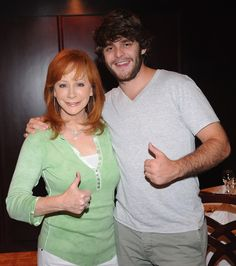 Reba McEntire and Thomas Rhett Akins - Big Machine Label Group Hosts A Private Dinner With Artists & NASCAR Drivers