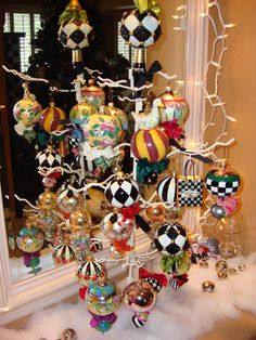 Breezy Trees: MacKenzie-Childs Christmas Ornaments: These are a few of my favorite things Xmas Ornaments, Christmas Decorations, Handmade Decorations, All Things Christmas, Christmas Holidays, Mackenzie Childs Furniture, Mackenzie Childs Inspired, Mckenzie And Childs, Whimsical Christmas
