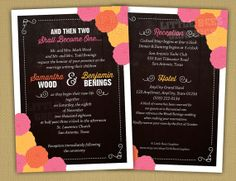 25 Printed Wedding Invitations and Response by LittleBeesGraphics, $63.15