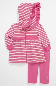 Juicy Couture Hooded Cardigan & Leggings (Infant) available at #Nordstrom