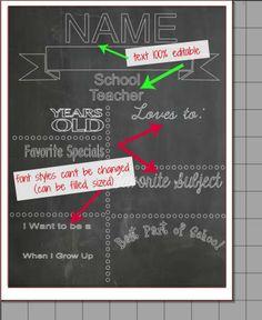 Chalkboard Printables Template: Free Silhouette Studio Cut File ~ Silhouette School