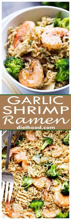 Garlic Shrimp Ramen