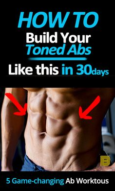 It's not that difficult to get your abdominal muscles! Just doing these 5 GAME-CHANGING workouts at home and implementing a proper diet every day, everyone can have tone abs in a short time. Lower Abs Workout Men, Ab Workout Men, Best Ab Workout, Ab Workout At Home, Six Pack Abs Workout, Men Exercise, Dumbbell Workout, Workout Plans, Fitness Body Men