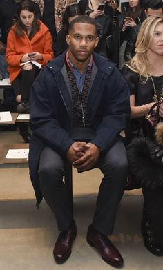 Inside Fashion Week - Victor Cruz during New York Fashion Week. He has turned out to be one of the rare sports celebrities with a knack for looking as if the designer clothes he favors are not wearing him. (Photo: Viven Killen/Getty Images)